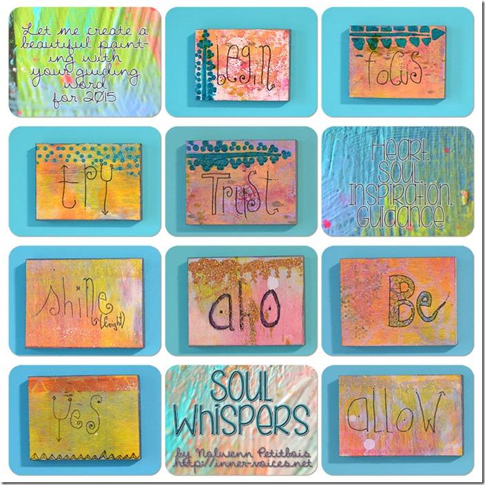 Soul Whispers paintings by Nolwenn Petitbois