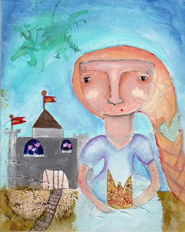 """""""Je n'ai pas besoin de vos contes de fée"""", une peinture en collaboration avec ma fille de 8 ans"""