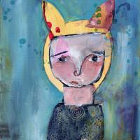 "«<a href=""https://www.etsy.com/ca/listing/187305206/prue-9×12-original-primitive-portrait"" target=""_blank"">Prue</a>»"