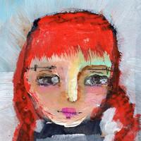 "«<a href=""https://www.etsy.com/ca/listing/187295070/summer-3×4-original-mixed-media-portrait"" target=""_blank"">Summer</a>»"