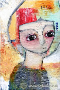 Lisa, Mixed Media painting by Nolwenn Petitbois