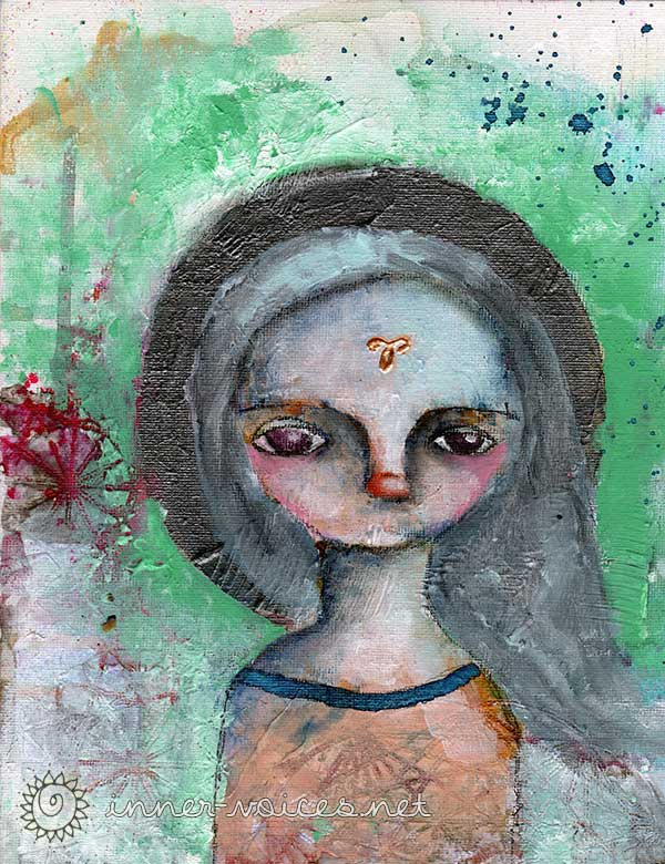 Aris, a Mixed Media painting by Nolwenn Petitbois