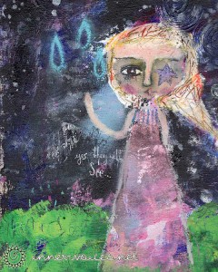 Anwen, a mixed media abstract painting by Nolwenn Petitbois