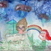 "«<a href=""https://www.etsy.com/ca/listing/180033452/magic-makers-10×8-original-mixed-media"" target=""blank"">Magic Makers</a>»"