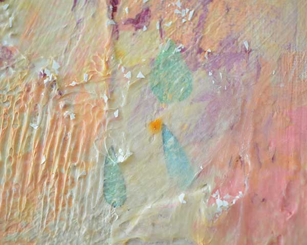 Summer Rain, a mixed media abstract painting by Nolwenn Petitbois