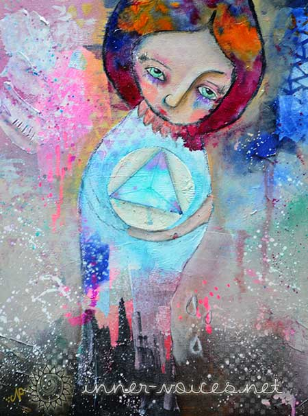 Medea, a mixed media painting by Nolwenn Barre Petitbois