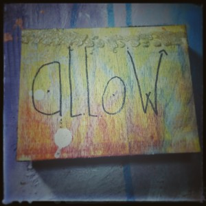 Allow, a Soul Whispers mixed media painting created by Nolwenn Petitbois