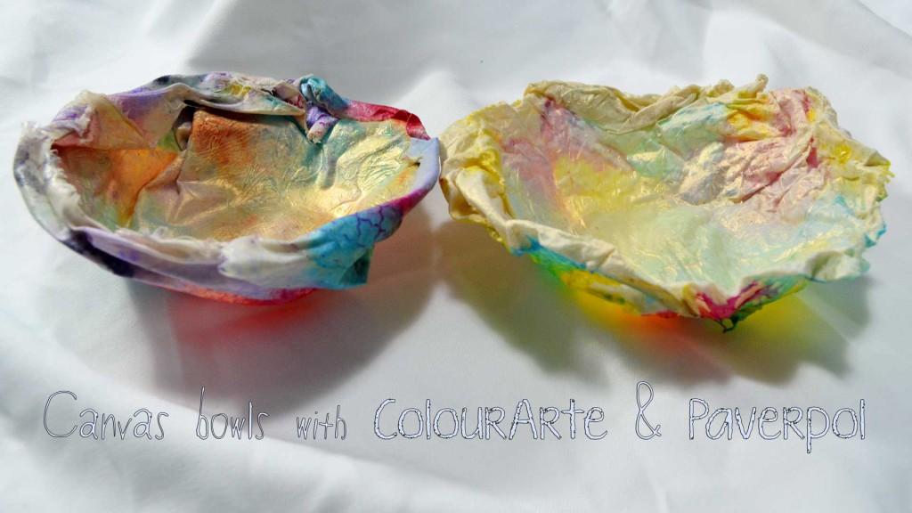 Colorful Canvas bowl