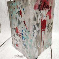 Mixed Media birthday card video project for Strumpet Stencil