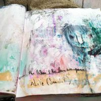 Art Journaling in Motion, new process video: The Passion & The Pain