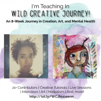 Learn from me: I am teaching in Wild Creative Journey! + a giveaway
