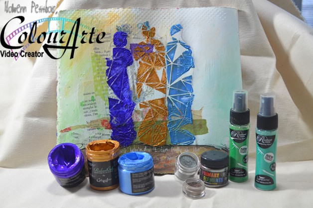 {Art Journaling In Motion} video, Silhouettes of my Self, for ColourArte