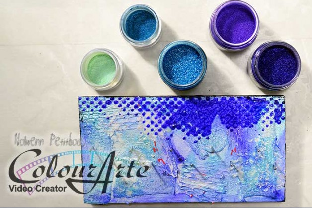 {Creativity In Motion} Mixed Media jewelry hanger video with ColourArte