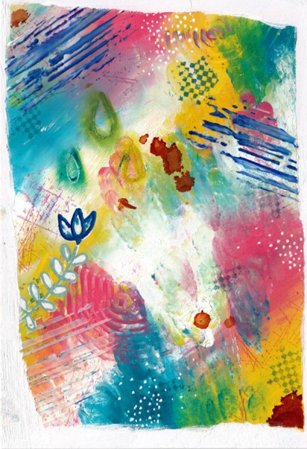 Breathe Again, my new {Painting In Motion} mixed media abstract painting